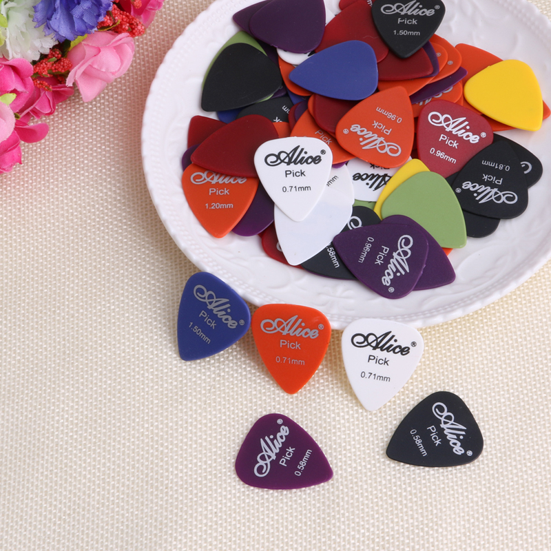 100Pcs/Set Electric Guitar Acoustic Music Pick Plectrum Assorted Thickness New