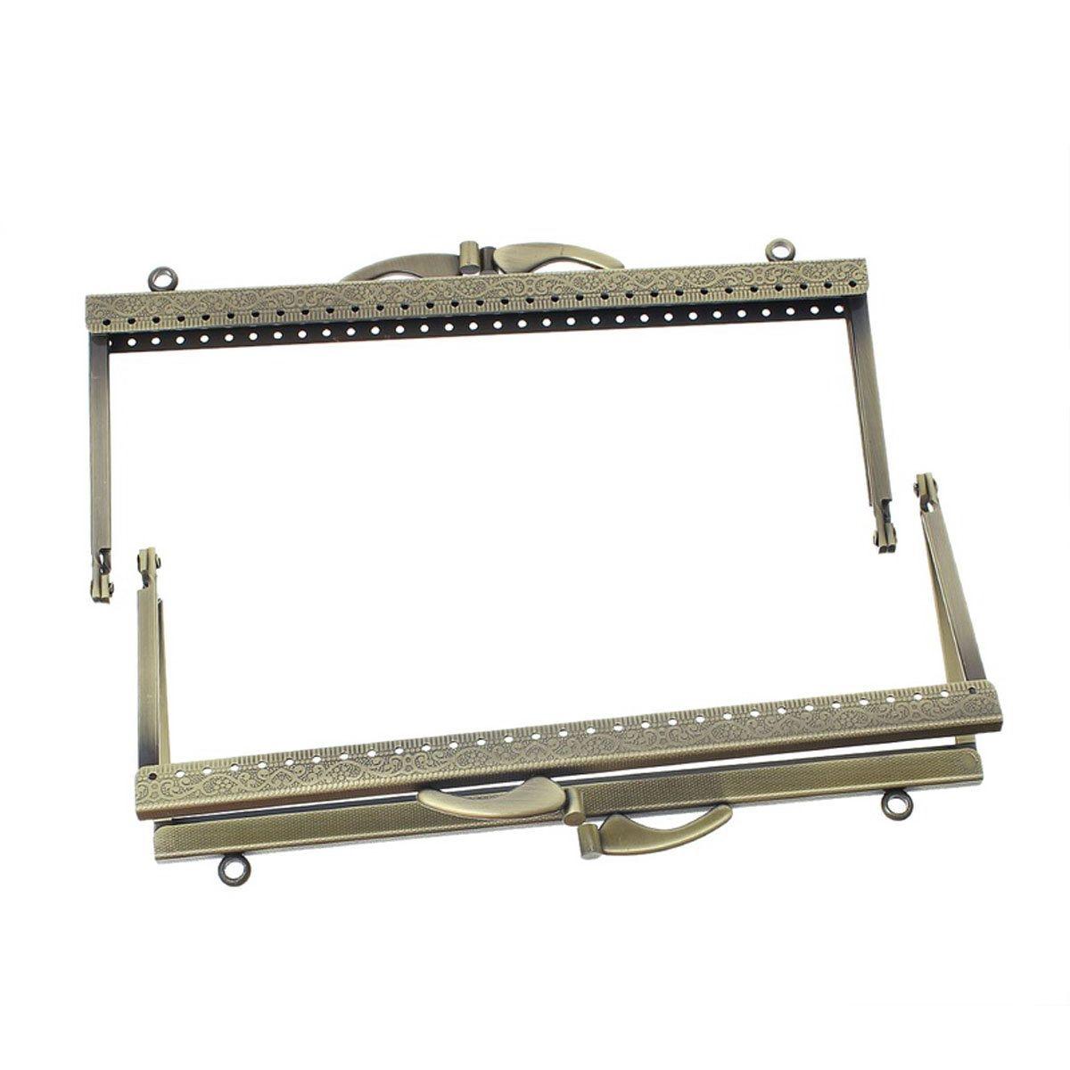 Metal Frame Kiss Clasp Arch For Purse Bag Bronze 19cm x 8.5cm