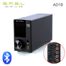 NEW SMSL AD18 80W*2 CS8422 DSP HIFI Bluetooth Pure Digital Audio Amplifier Optical/Coaxial USB DAC Decoder With Remote Control