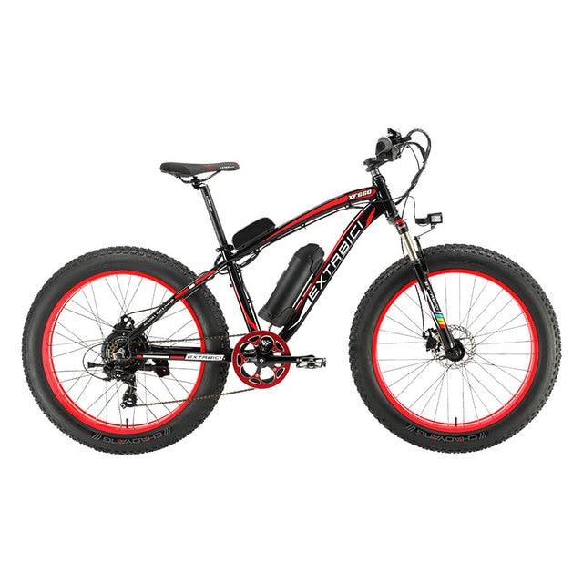 Cyrusher XF660 li-батареи Электрический fat tire Bike 48 В 500 Вт Электрический горный велосипед с Компьютера Спидометр ebike