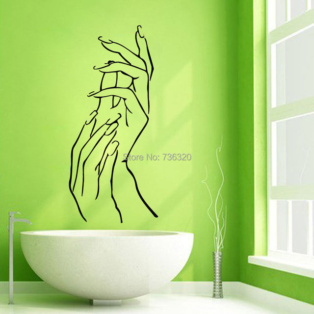 Nail Hand Vinyl Wall DecalManicure Nails Beauty Salon Art Sticker Murals  Wall Decor Wall Sticker Shop Part 61