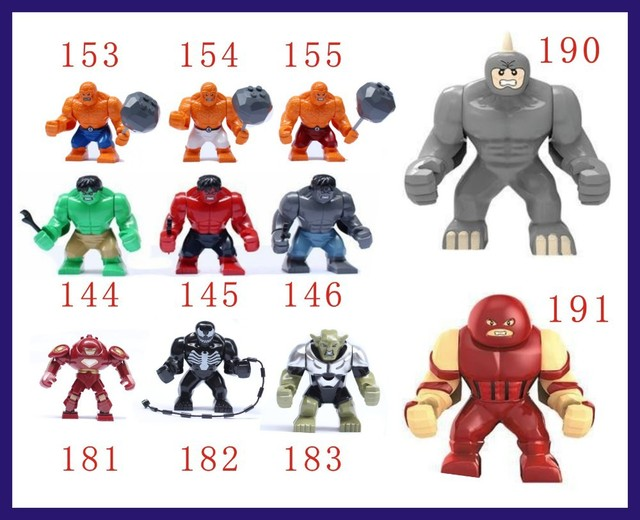 55pcs big juggernaut venom lazy rhino vs hulk buster green goblin