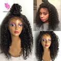 Brazilian Lace Front Wigs Virgin hair Full Lace wig Curly Wig Glueless Full Lace Human Hair Wigs With Baby Hair Bleached Knots
