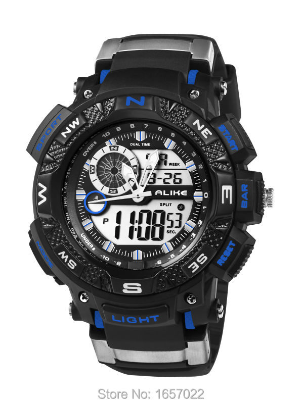 Women Men Fashion Waterproof Digital Sports Wristwatches For Students Promotion Gift Led Stop Watches With Green Led Display
