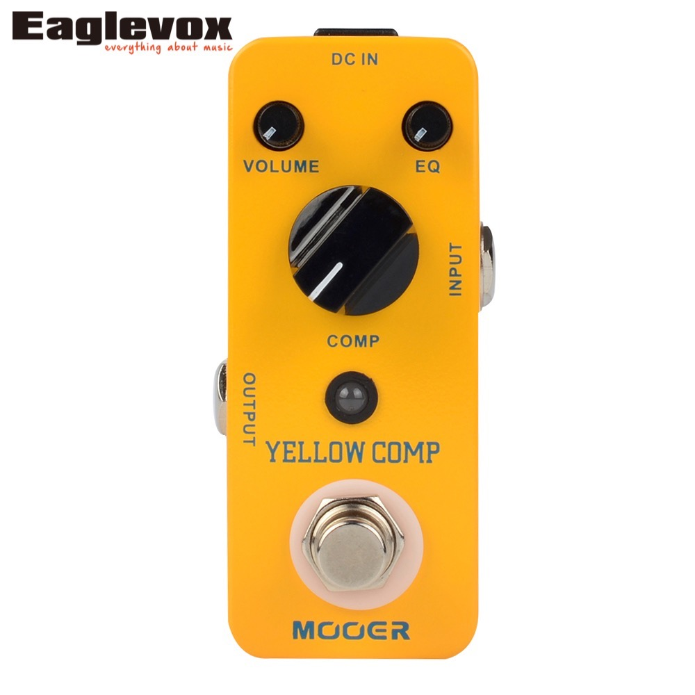 MOOER Yellow Comp Compressor Sound Guitar Effect Pedal True bypass mooer ensemble queen bass chorus effect pedal mini guitar effects true bypass with free connector and footswitch topper