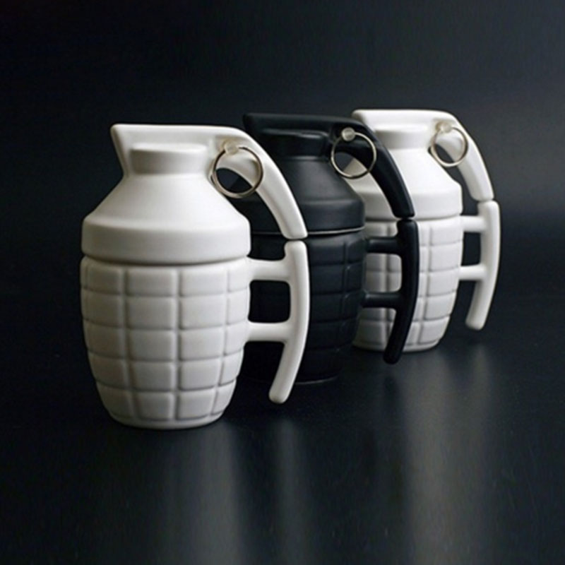 280ml Creative Grenade Coffee Mugs Practical Water cup with Lid Funny Gifts PLAYERUNKNOWNS BATTLEGROUNDS