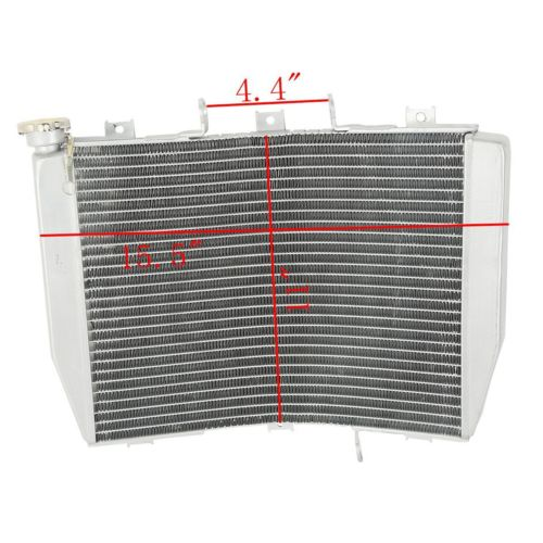 Motorcycle Radiator Cooler For Kawasaki NINJA ZX6R ZX 6R 1998 2002 ZZR600 ZX600J 05 08