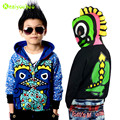 KEAIYOUHOU 2017 Spring Autumn Boys Jackets Kids Dinosaur Hooded Jacket For Boys Coat Children Outerwear Boys Clothes 3-11 Years