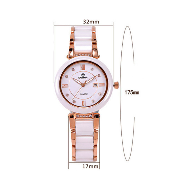 Women Lady Casual Watches Waterproof Luminous Stainless Steel Ceramics Strap Crystal Dial Wristwatch Analog Quartz Watch LL@17 matisse lady austria full crystal dial