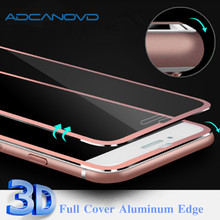 ФОТО 2pcs 3d aluminum alloy tempered glass for iphone 7 7plus 9h hardness full screen protector protective film for iphonex 6 6s