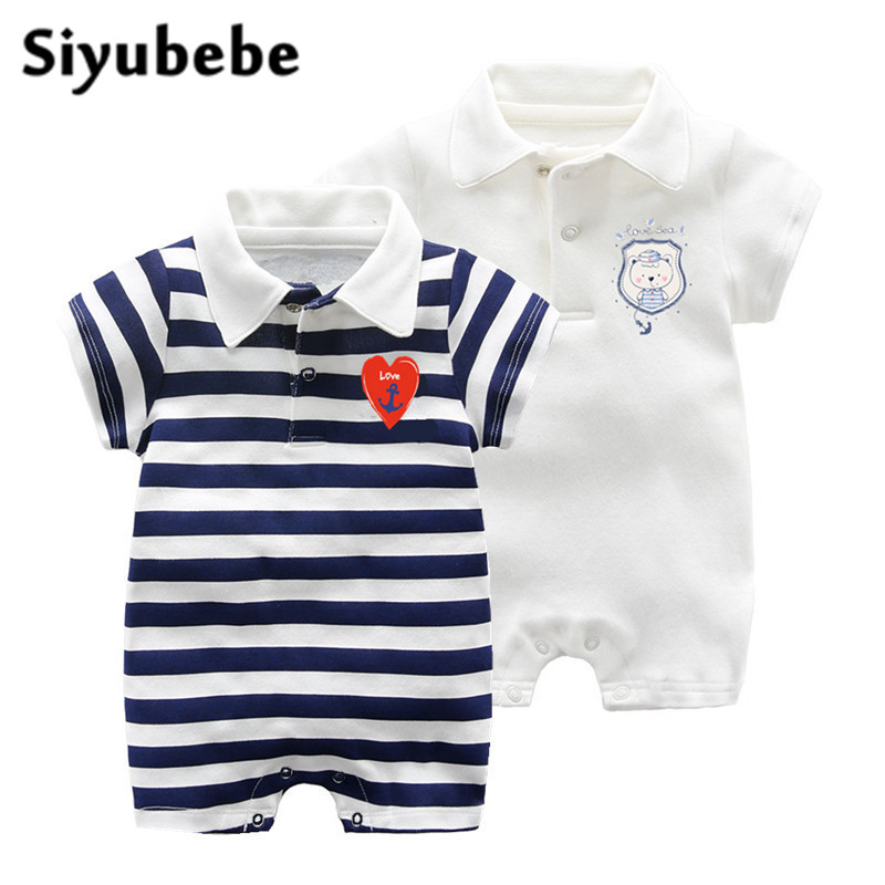 Summer Baby Rompers Set Fashion Brand Cotton Short Sleeve Ropa Bebe Infant Girl Jumpsuit Kids Clothing Newborn Baby Boy Clothing brand 100% cotton new 2017 ropa bebe newborn baby girls clothing clothes romper creeper jumpsuit short sleeve baby girls rompers