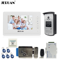 JERUAN Home 7 TFT Color Video Door Phone Intercom System Kit 700TVL RFID Access IR Night