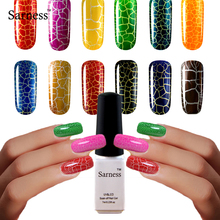 Sarness Hot sale Crack Shatter Nails Lacquer UV LED Cracking Nail Art lucky Cracke Nail Gel Polish vernis semi permanent