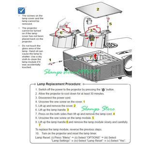 Image 5 - Yüksek Kaliteli ELPL54 V13H010L54 EB S7 EB S7 + EB S72 EB S8 EB S82 EB X7 EB X72 EB X8 EB X8E EB W7 EB W8 için Projektör lambası Epson