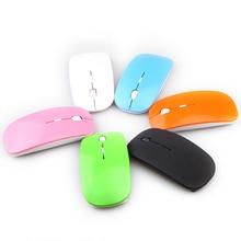 Calidad promoción 2.4 ghz muchos color ratón inalámbrico ratón óptico usb para apple macbook mac, Free & Drop Shipping # M004