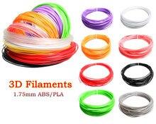Высокое Качество Гладкий 10 цвет или 20 цвета НОАК/ABS Накаливания 5 М или 10 М/Цвет 1.75 мм 3D Печати Накаливания Для 3D Ручка Бесплатная Доставка