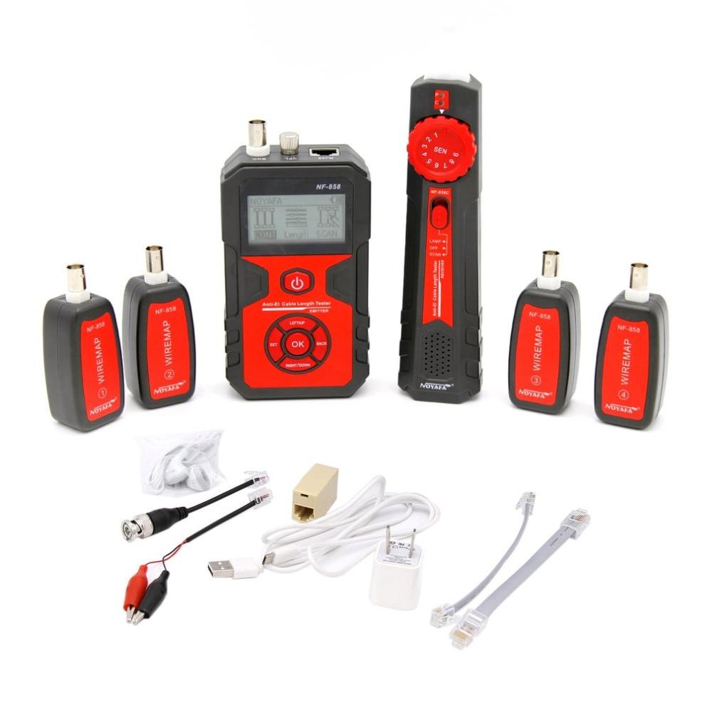 NF-858 RJ11 RJ45 câble Tracker câble testeur trouveur pour câble réseau test BNC câble ligne réseau outil ligne localisateur