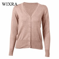 Wixra Warm And Charm 23 Colors Autumn New Sweaters Women Cardigan Knitted Sweater Coat Long Sleeve