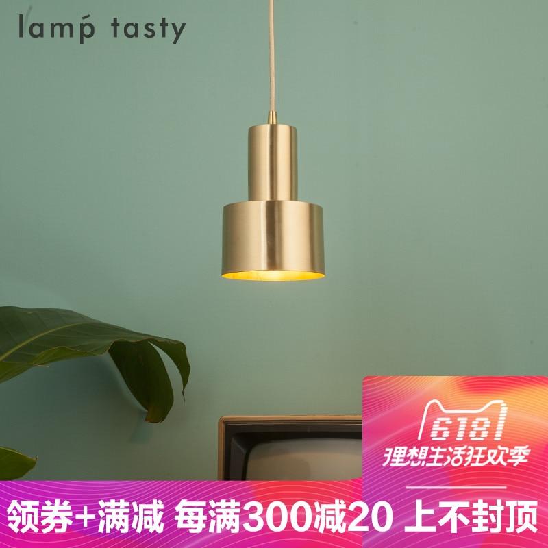 Modern Simple Brass Pendant Light E27 4 Color Led Hanging Lamp/droplight For Dinning Bar Restaurant Deco Light Fixture