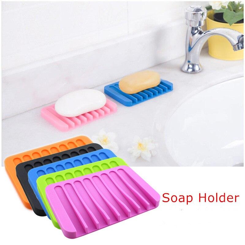 1 Stück Silikon Seife Dish Seife Platte Halter Seife Tablett Platte Tablett Ablauf Für Dusche Bad Küche