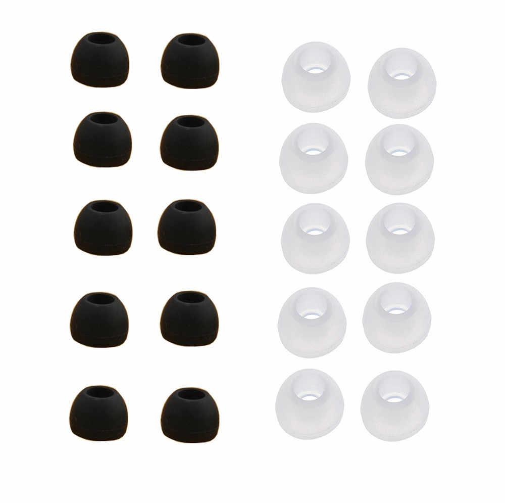 10 par średniej wielkości, jasne, silikonowe w celu uzyskania zatyczki do uszu porady dla Sony Phillips Oppo Samsung słuchawki