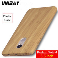 Unibay Xiaomi RedMi Note 4 Case Wood Color Luxury Shockproof Frosted Shield Hard Plastic Back Cover