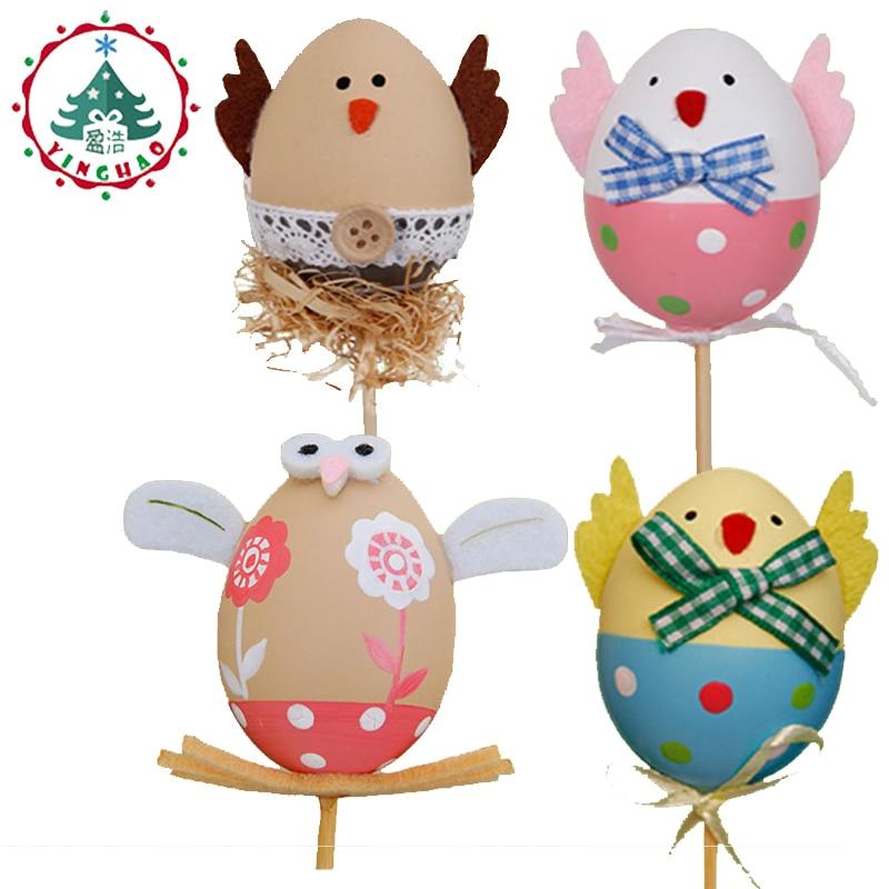 Inhoo Kindergarten Huevos de Pascua fiesta decoración de la mesa - Para fiestas y celebraciones