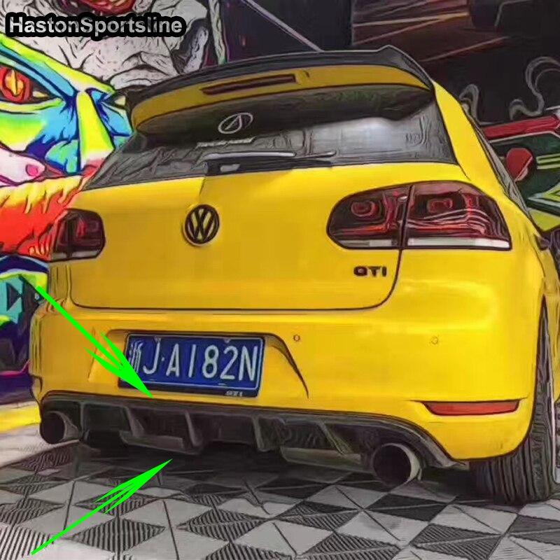 Pour VW Golf 6 GTI Kit carrosserie arrière en Fiber de carbone diffuseur de pare-chocs 2010-2013 seulement GTI