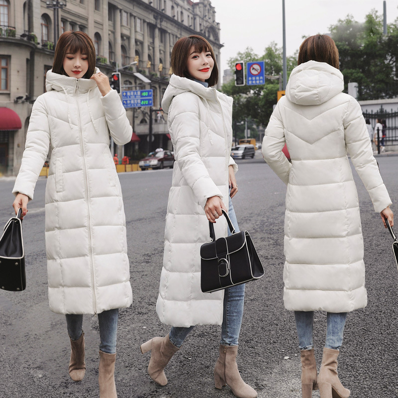 Hooded Winter Down Coat Jacket Long Warm Slim Women Cotton-padded Casaco Feminino Abrigos Mujer Invierno Wadded Parkas Outwear