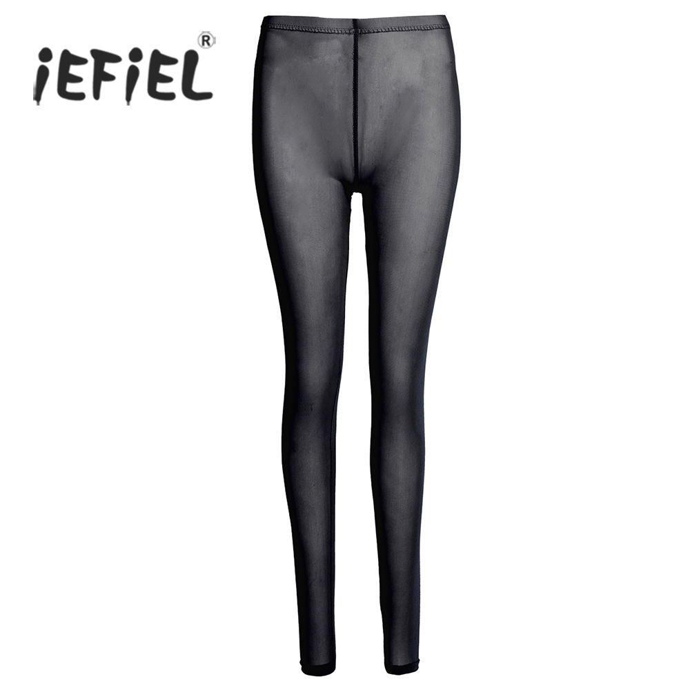 Women Lingerie See-through Sheer Mesh Slim Cut Pants   Leggings   Trousers Women's Clothing Nightwear Sexy   Leggings   for Dancing