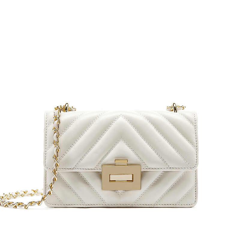 LA FESTIN женские сумки 2019 новые маленькие из натуральной кожи, с цепочкой сумка через плечо для женщин