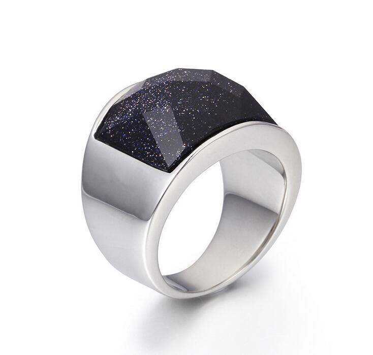 men women fashion silver 316l stainless steel opal jewelry ring purple black cat eye onyx cutting stone luxury wedding rings - Onyx Wedding Ring