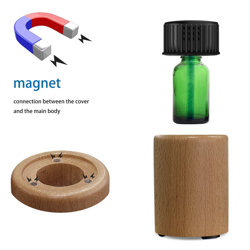 Waterless Mini Aromatherapy Essential Oil Diffuser Difusor Aromaterapia Aroma Oil Nebulizing Diffuseur Usb Light Wood For Home