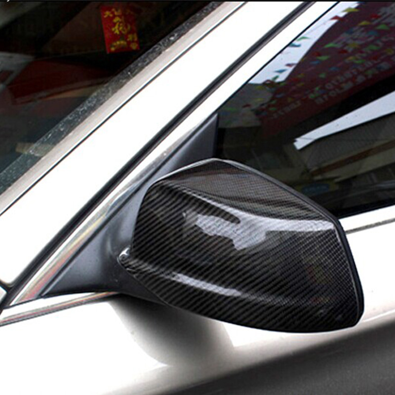 цена на For BMW F10 Carbon Fiber Car Outside Wing Mirror Trim Rearview Mirror Cover 3M 2011 2012 2013