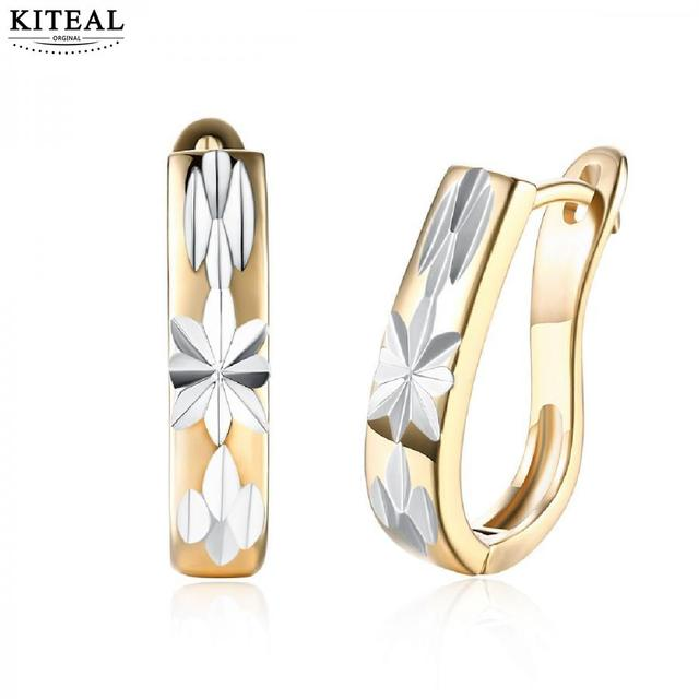 Kiteal Best Gift Gold Color Champagne Earring Engraved Pattern Kupe Wedding Decoration