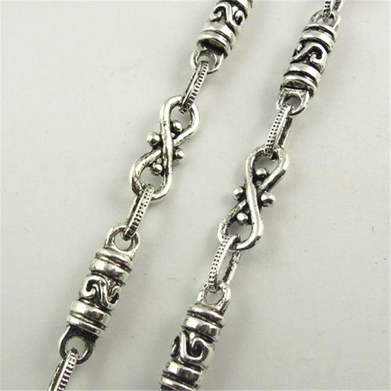 1 Meter 1 Los Antiken Stil Silber Ton Schmuck Halskette Kette 10*5 Mm (30132)