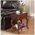 Madeira americano tiger pé sofá mesa lateral. Multi - funcional mesa de chá pequena