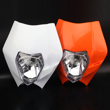 цена на Headlight Mask Headlamp Assembly For KTM EXC 125 EXC 200 250 EXC 300 400 EXC 450 500 530 Motorcycle Accessories Front Headlights