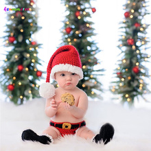 Outfit Christmas Costume Hat Photo-Props Infant Beanie Crochet Newborn Knitted Baby Shorts