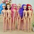 Новый 3D Глаза Большегрузных Обнаженная Обнаженная кукла, реальной Ресницы, косплей Раскрашенная Вьющиеся Волосы/12 Совместное Передвижная/Для 1/6 DIY Barbie Doll