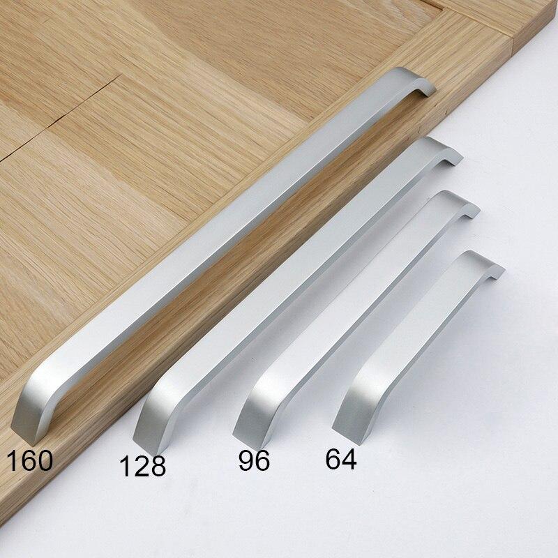 1 Pc Aluminium Lange Knob Cabinet Möbel Tür Griffe Knöpfe Schlafzimmer Schrank Kommode Küche Schublade Zieht -- Jd9 Wwo66 Modische Und Attraktive Pakete