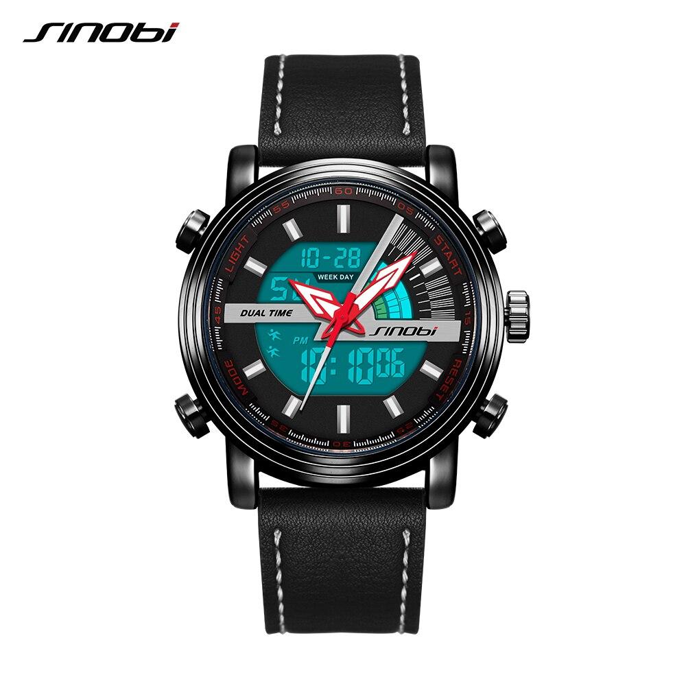 SINOBI Men Watch Clock Waterproof Top-Brand Fashion Black Casual Digital Belt Homme Saati-Free