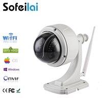 1080p HD WIFI PTZ Speed Dome IP Camera Wireless 2 8 12mm Optical 4xZoom Len Night