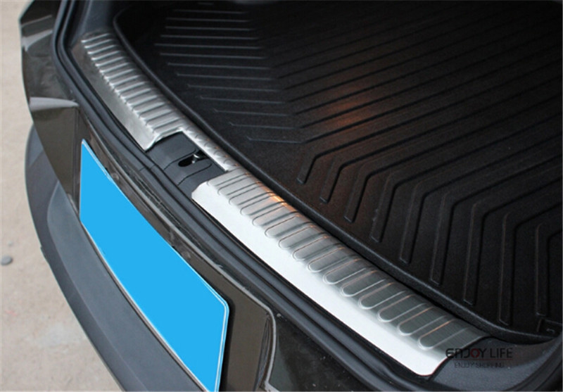 Interior Rear Bumper Protector Tail Tailgate Trunk Guard Sill Plate Scuff Trim Cover For VW Volkswagen Tiguan 2009 - 2015 front rear bumper protector sill trunk guard skid plate trim cover plate for nissan qashqai 2007 2008 2009 2010 2011 2012 2013