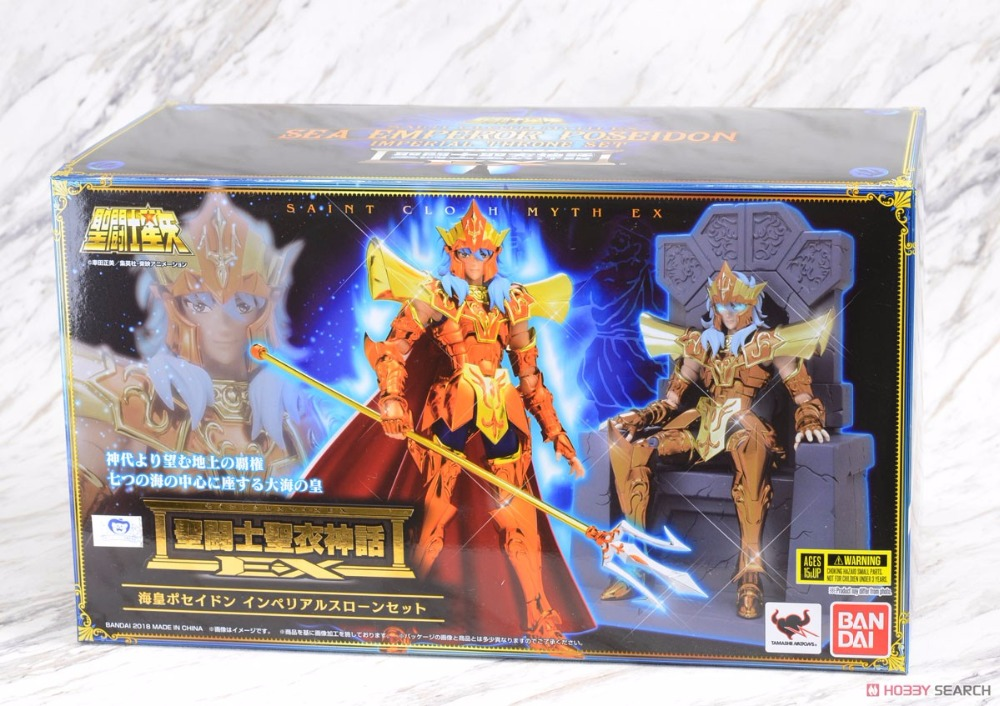 <font><b>Saint</b></font> <font><b>Seiya</b></font> <font><b>BANDAI</b></font> Tamashii Nations <font><b>Saint</b></font> <font><b>Cloth</b></font> <font><b>Myth</b></font> EX Action Figure Sea King Poseidon luxury Throne Set image