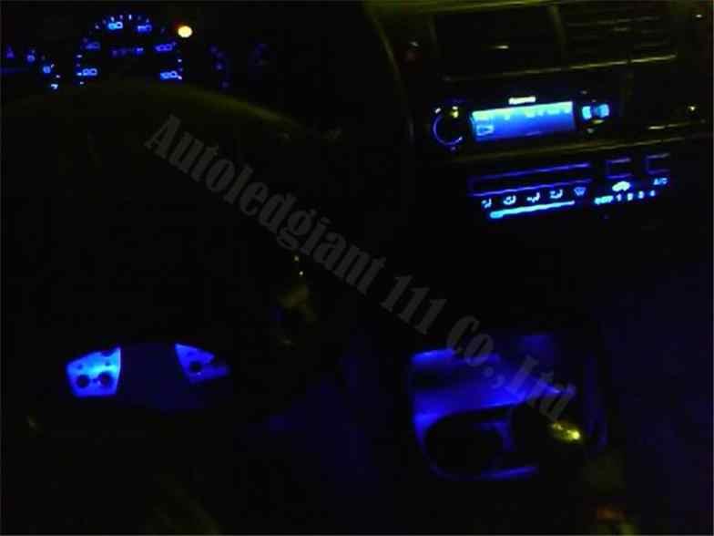 WLJHx سيارة Led التحكم في المناخ LED عدة أبيض أزرق أحمر أخضر وردي أصفر لهوندا سيفيك EG 1994 1993 1992 1995