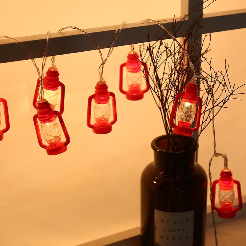 лучшая цена Novelty 40Led Black Red Gray Water Oil Festoon Party Ball String Lamps Led Christmas Lights Fairy Wedding Garden Pendant Garland