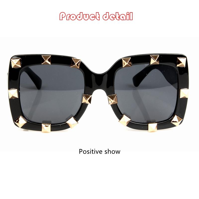 fc88f8e8799e Fashion Sunglasses Women Luxury Brand Designer Rivet Steak Punk ...