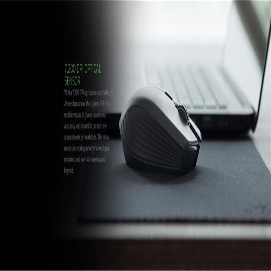 New Original Razer Atheris Ambidextrous Bluetooth 2 4G Wireless Gaming  Mouse 7200 DPI Optical Sensor Game Mouse Original Box