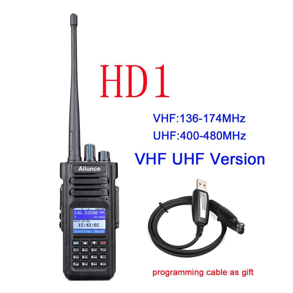US $191 36 19% OFF Dual Band DMR Ham Radio Retevis Ailunce HD1 GPS Digital  Walkie Talkie 10W VHF UHF Ham Amateur Radio Hf Transceiver Program Cable-in